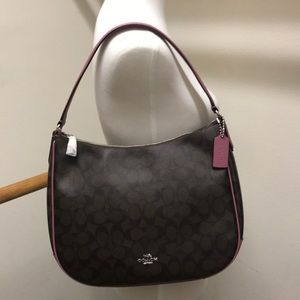 NWT Coach Signature Print Shoulder Bag